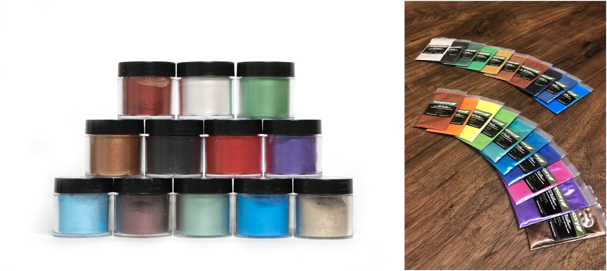 Metallic Pigments for working with epoxy