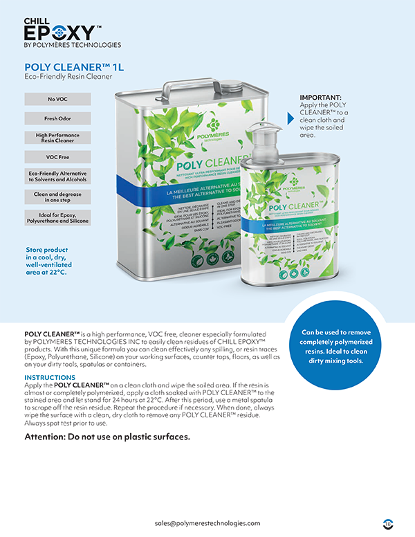 Chill Poly Cleaner Brochure