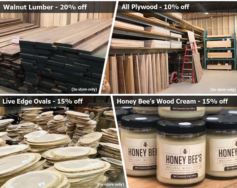 Walnut is now on special in Canada at KJP Select Hardwoods
