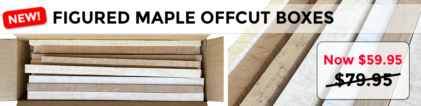 Figured Maple Offcuts Boxes