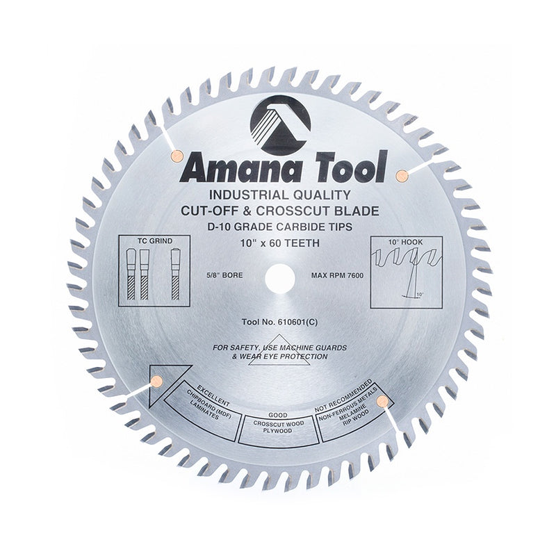 "10"" x 60 Tooth - Heavy-Duty General Purpose Saw Blade"
