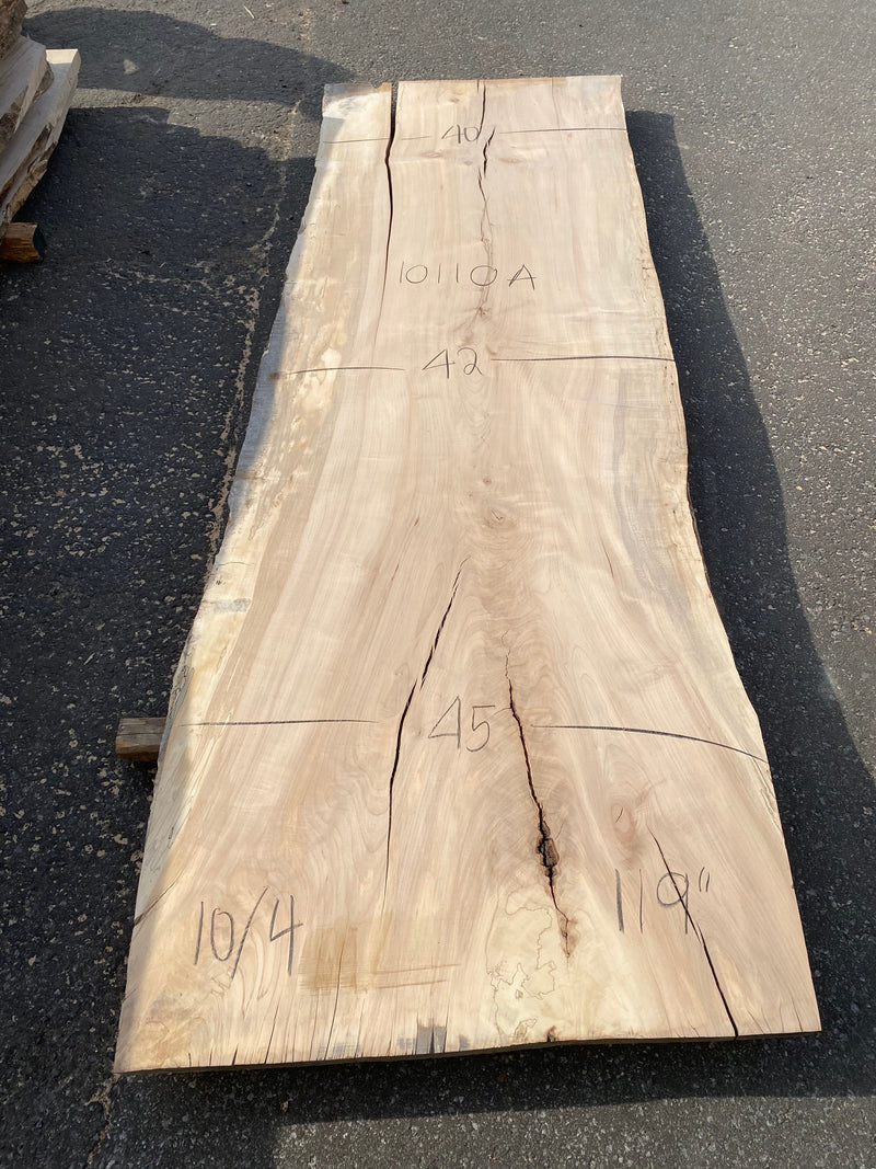 "Spalted Maple Live Edge Slab - 2-1/2"" x 45"" x 119"""