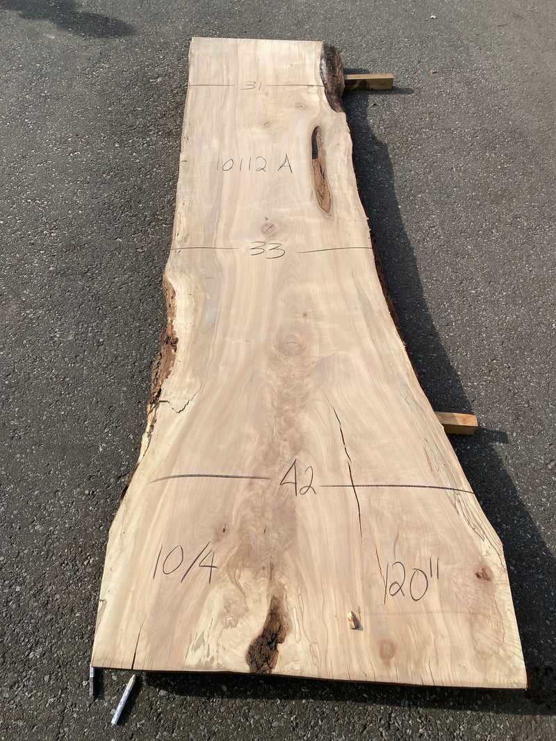 "Spalted Maple Live Edge Slab - 2-1/2"" x 33"" x 120"""