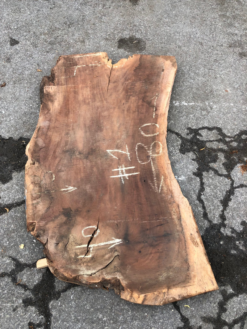 "Claro Walnut Live Edge Slab - 3"" x 44"" x 80"""
