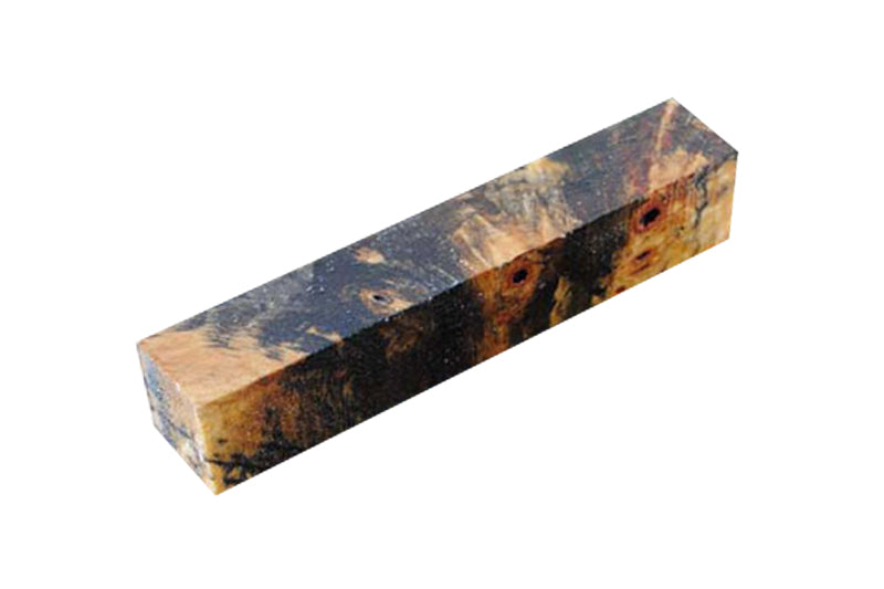 Stabilized Buckeye Burl Clear Pen Blank