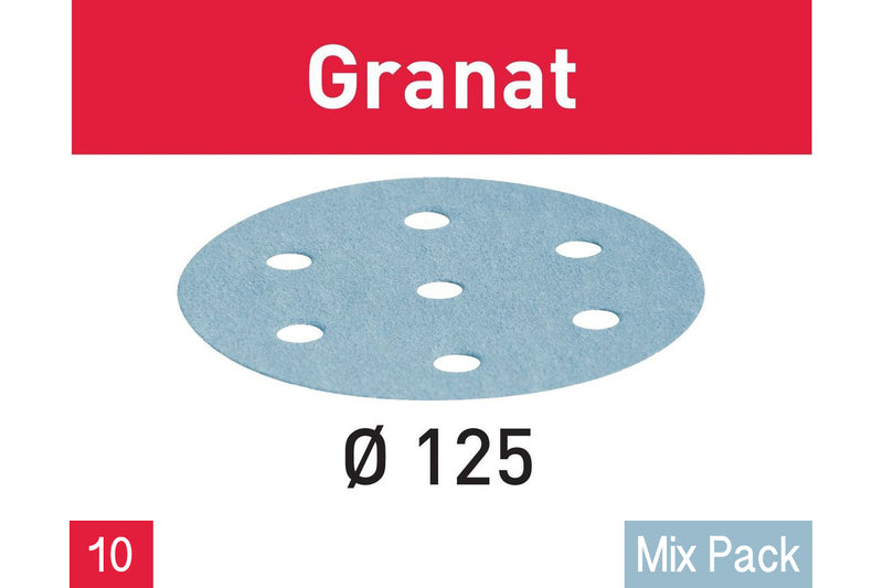 ETS125/RO125 - Granat Abrasives (10 Mix Pack)