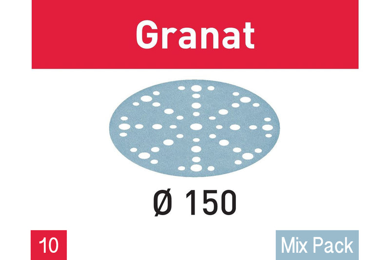 150mm Granat Abrasives (10 Mix Pack)