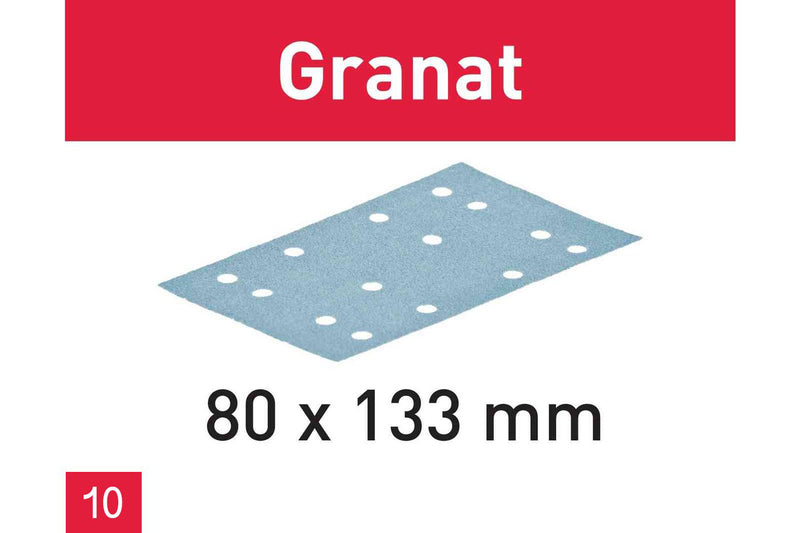 80 x 133 - Granat Abrasives (10 Pack)