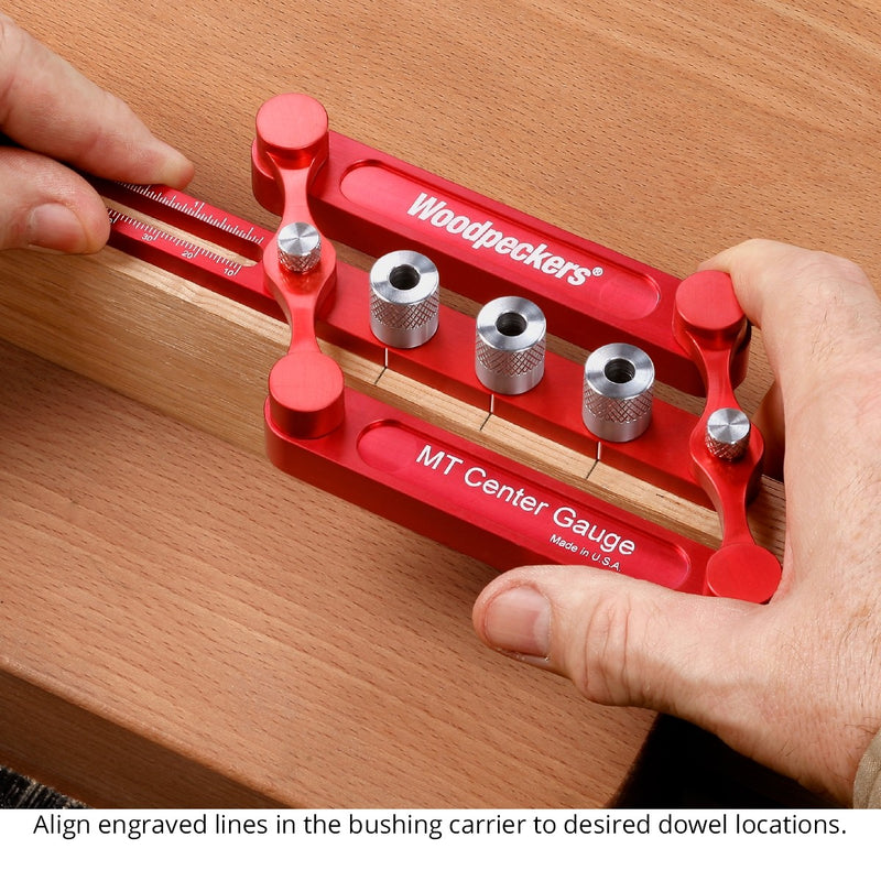 MT Center Gauge & Doweling Jig - OneTime Tool