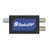 SolidRF 2 Way Antenna Coaxial Splitter For Cell Phone Signal Booster 698-2200MHz Low-Loss RF Splitter With F-Female Connectors