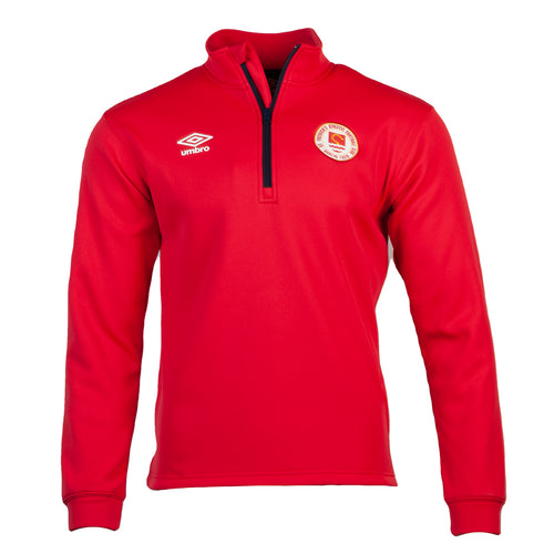 2021 St Patricks Athletic F.C. - Players Training Bonded 1/4 Zip - Red - Men