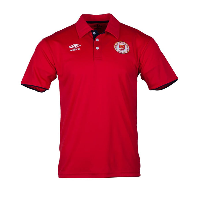 2021 St Patricks Athletic F.C. Travel Polo - Red - Men