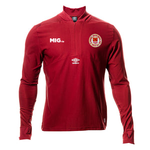 2020 - ½ Zip Warm Up - Red - Adults
