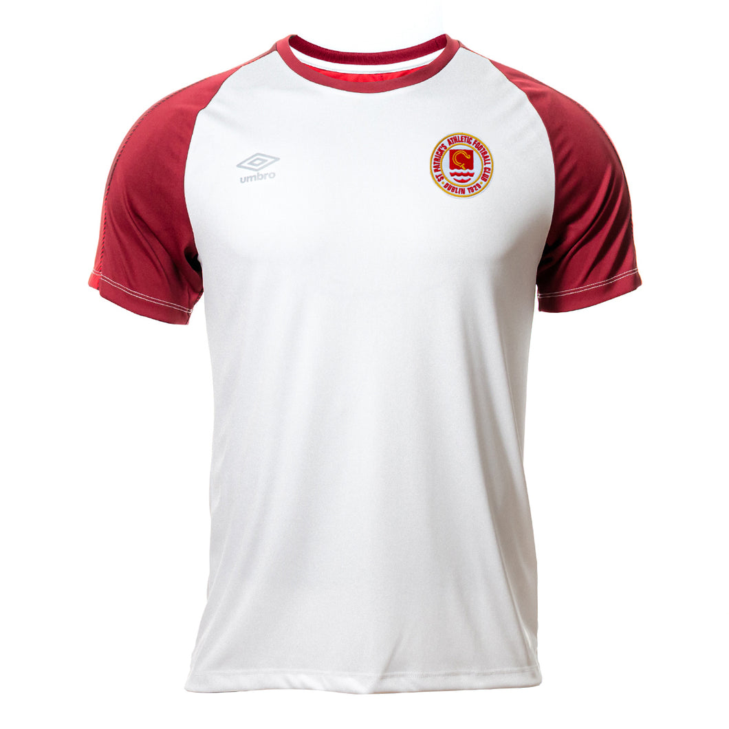 2020 Warm up Jersey - White with Red - Adults