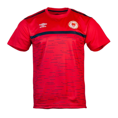 2021 St Patricks Athletic F.C. Players Training Jersey - Red with Navy - Men