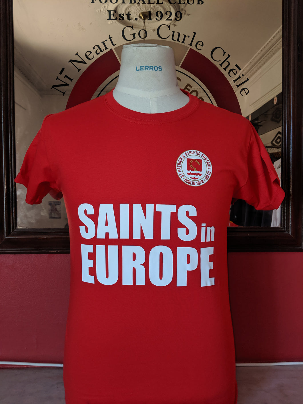 Saints in Europe Tee - Red - Adults