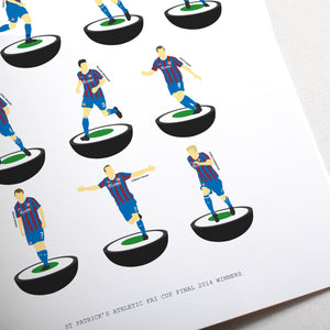 Limited Edition 2014 FAI Cup Final Subbuteo Prints - Sale 25% OFF