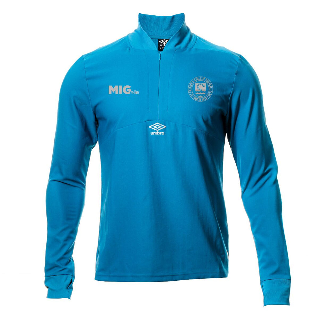 2020 - ½ Zip Training Top - Blue - Adults