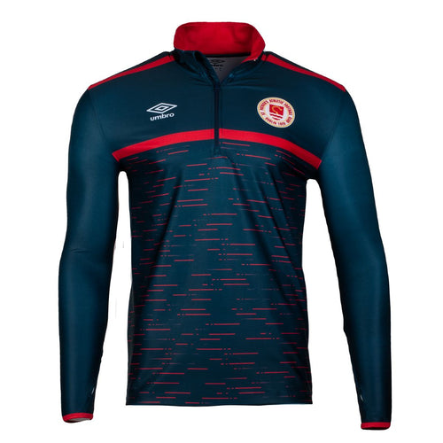 2021 St Patricks Athletic F.C. Training Mid Layer 1/4 Zip - Navy /Red - Men