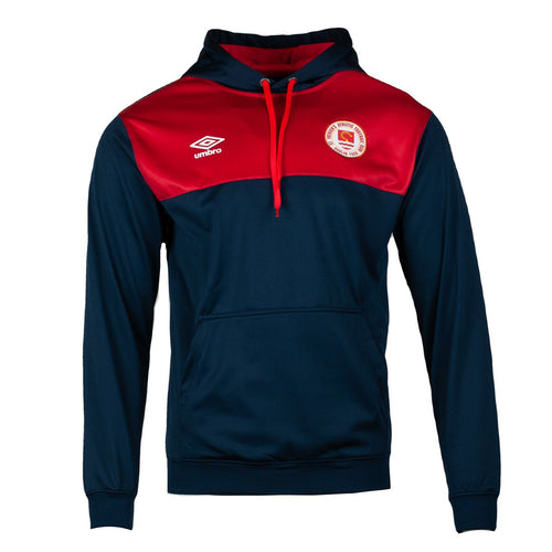 2021 St Patricks Athletic F.C. Travel Hoody - JUNIOR - Navy / Red  - Youths