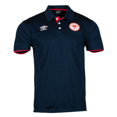 2021 St Patricks Athletic F.C. Travel Polo - Navy - Men