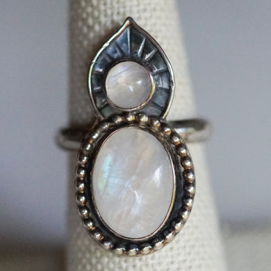 Moonstone Lotus Ring