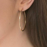 Round Gold Hoop - Smooth 2 Inch