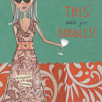 Calls for Bubbles Cocktail Napkin