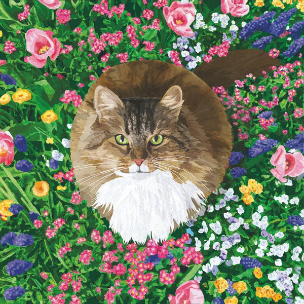 Garden Cat Cocktail Napkin