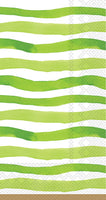 Wavy Green Stripe Guest Towel