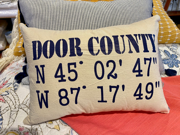 Door County Coordinates Accent Pillow