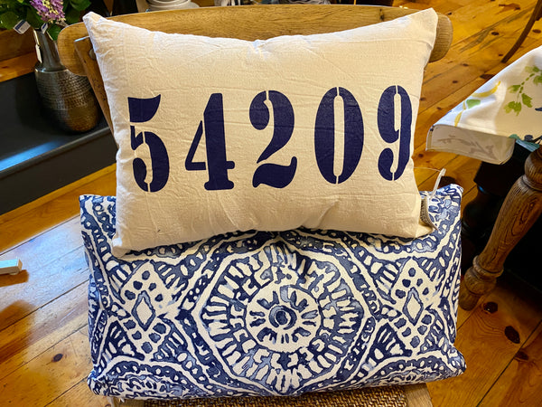 Egg Harbor Zip Code Accent Pillow