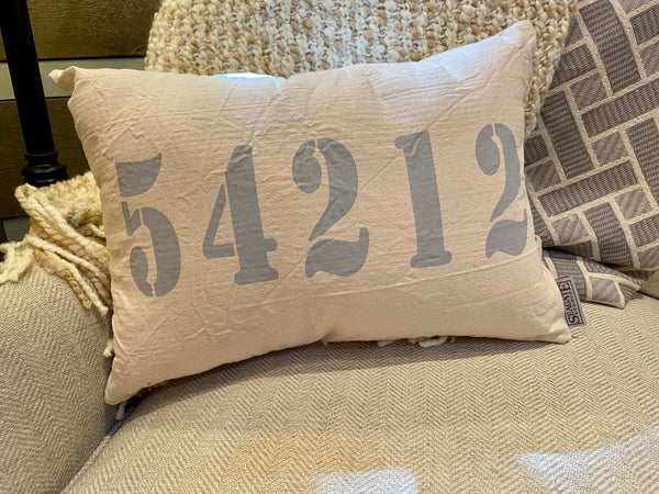 Fish Creek Zip Code Accent Pillow
