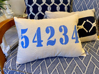 Sister Bay Zip Code Accent Pillow