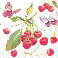 Cherries & Butterfly Lunch Napkin