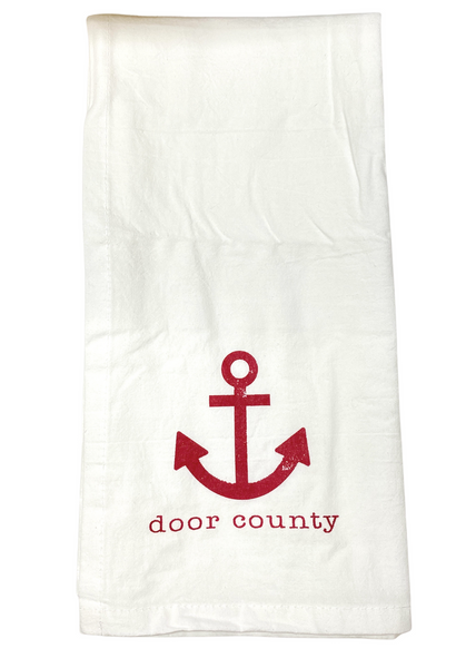 Door County Anchor Tea Towel