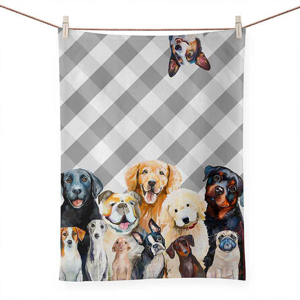 Best Friends - Dog Tea Towel