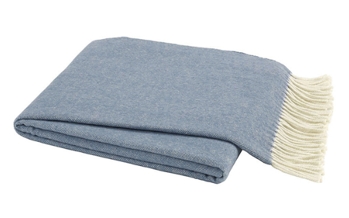 Chambray Italian Herringbone Throw
