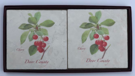 Door County Cherry Coasters Set