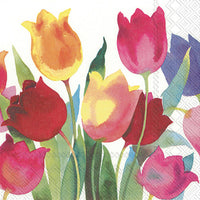 Powerful Tulips Cocktail Napkin
