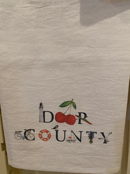 Door County Flour Sack Towel