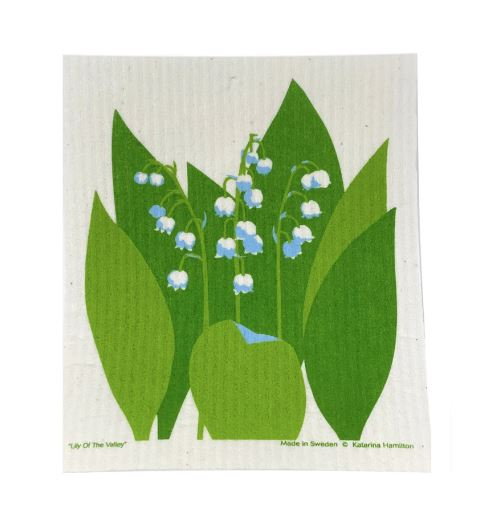 KH Lily of the Valley Swedish Dishcloth