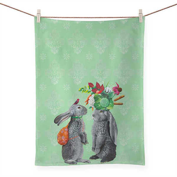 Morning in the Garden Tea Towel