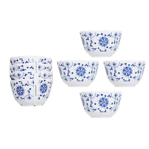 Moroccan Blue Dessert Bowls | Set of Four