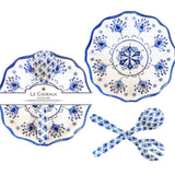 Moroccan Blue Salad Bowl & Server