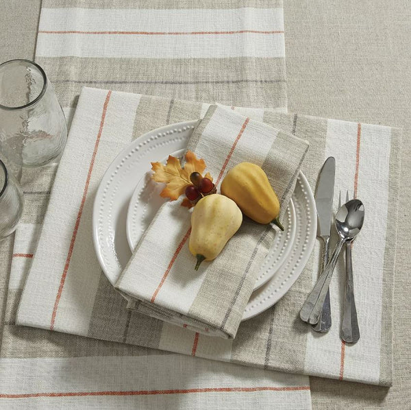 Neutral Stripe Table Runner