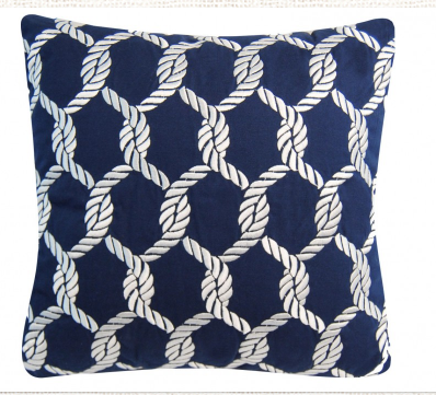 Rope Net Pillow Navy