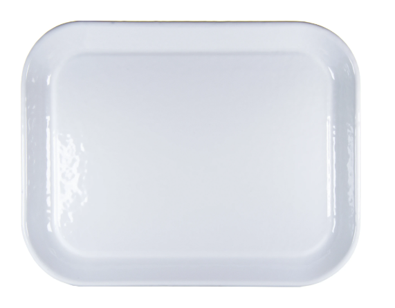 Solid White Large Rectangular Tray