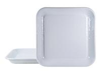 Solid White Square Tray