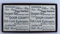 Door County Town Names Coaster Set